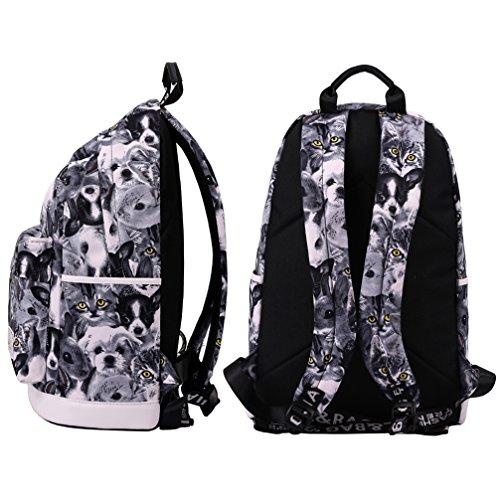 Mocha weir JIAYBL Schultern Kinder Schultaschen Rucksack Hochschule Mädchen Canvas Pack reisen (Erdbeere) grau