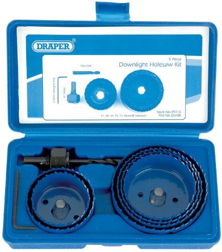 Draper 89716 - Juego de accesorios para sierra perforadora (especial focos de...
