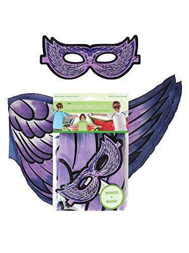 Dreamy Dress-Ups 660942-Spielset: Flügel + Maske, Lila Vogel