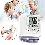 Sponsi Esfigmomanómetro portátil Medición de la presión arterial para padres Instrumento Regalo de salud LCD Dispaly Doméstico Esfigmomanómetro de sangre de uso rápido