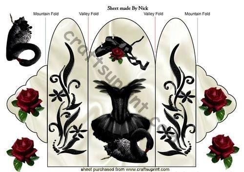 Black Swan e vestito da ballerina, Trifold by Nick Bowley