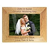 Engraved Landscape Wooden Photo Frame 5x7 - Personalised Gift