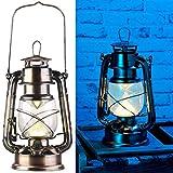 Lunartec LED Öllampe: Ultra helle LED-Sturmlampe, Batterie, 200lm, 3W, warmweiß, Bronze (Laterne Vintage)