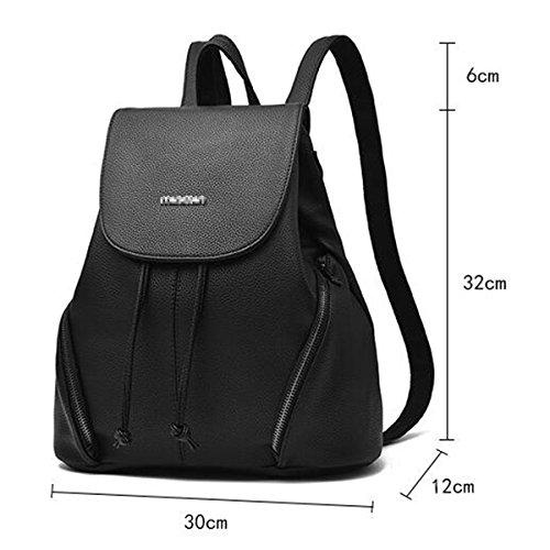 Frauen Mode Reisen Tiere Rucksack Schultasche Black