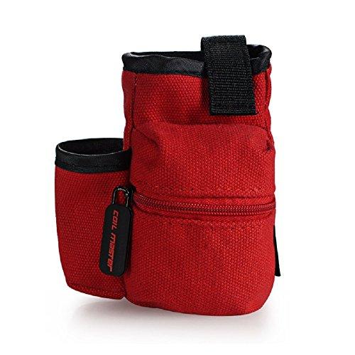 Coil Master Pbag 100% Authentic Universal Multifunktions-Elektronische Zigarette Vape Reise Tragetasche Mini Vape Tragetasche für Werkzeuge, Flüssigkeiten, RDA RTA Zerstäuber Mods, Batterien, Baumwolle / Wicking Supplies, Vape Kits, Vape Pens und vieles mehr! [BAG NUR] (Rot | Red) (Elektronische Zigarette Tragetasche)