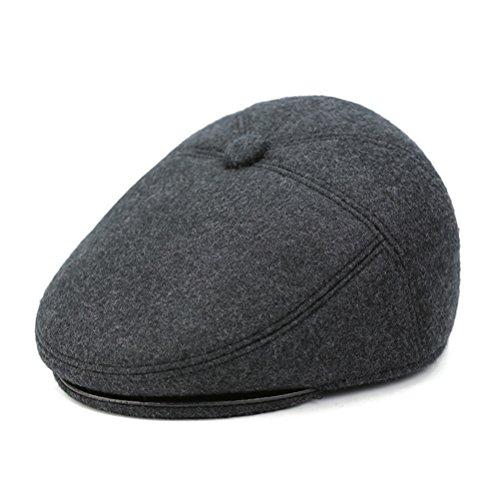 Boinas sheng Gorra lisa de lana para hombre Gorra irlandesa de pato real  Ivy Cap Gorro 3264d2d384a