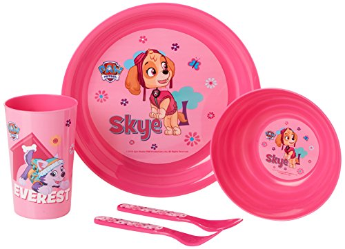Paw Patrol 4620BL-5886 Breakfast/Lunch and Dinner Set, Pink Pink Breakfast