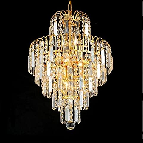 XIAOJIA European Candle Crystal Chandelier, Personalized Home Golden Chandeliers, Hotels, Bars, Cafes and Other Places Lighting Decorative Lights