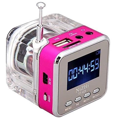 HCFKJ Mini USB MicroSD Karte FM Radio LCD Display Lautsprecher Musik MP3 Player (PK) Pk Mp3