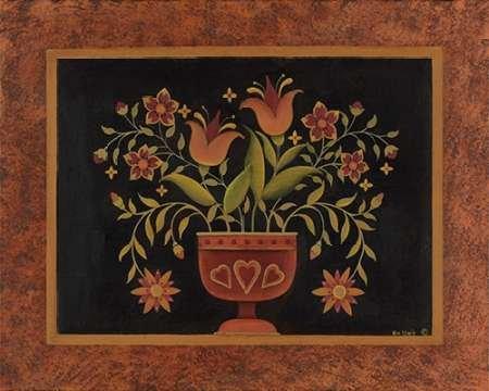 Floral with Hearts par Lewis, Kim -Imprimé beaux-arts sur toile - Petit (61 x 49 cms)
