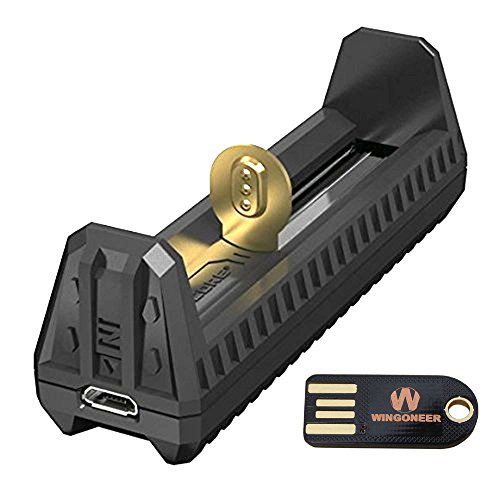 Nitecore F1 Batería Inteligente Cargador USB Fit Li-ion / IMR + WINGONEER Lámpara LED