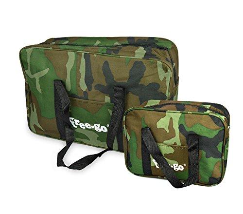 2507 set due borse termiche free-go fantasia militare 14 lt + 3 lt doppio manico. mws
