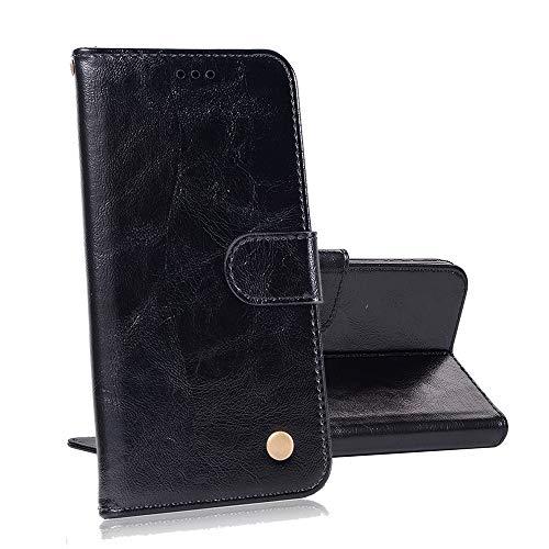 yueer für Alcatel One Touch Flash 2 Hülle Schutzhülle,mit [TPU Bumper] [Wallet Stand] für Alcatel One Touch Flash 2 Handyhülle Schwarz