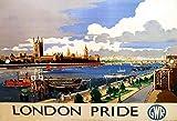 TammieLove - Cartello in Metallo con Scritta London Pride Gwr Railways, Stile retrò, Vintage, smaltato, per Interni ed Esterni, 20,3 x 30,5 cm
