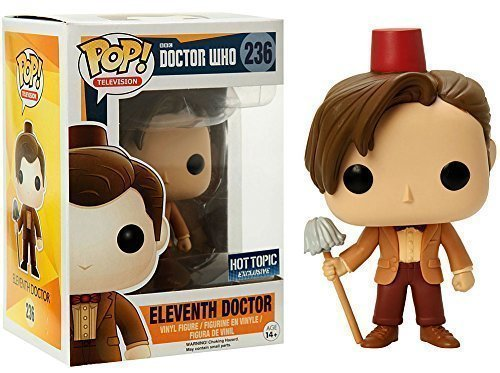 Funko POP TV: Doctor Who Eleventh Doctor Fez Hat & Mop Exclusive Figure, Model: 849803057183, Toys & Play by Kids & Play (Mop Hat)