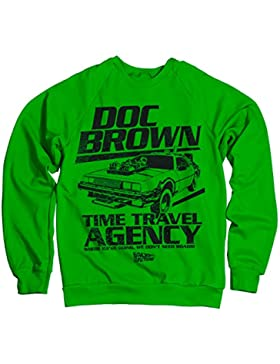 Licenza Ufficiale Doc Brown Time Travel Agency Felpa (Verde)