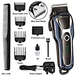 Cordless Hair Clippers Set, Professional Hair Clipper Beard Shaver 2 in1,with Precision Engineered
