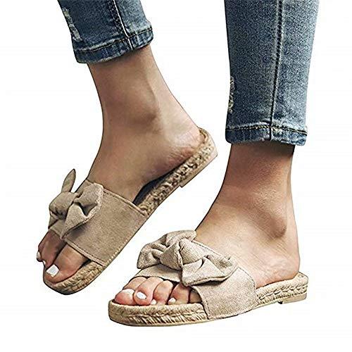 21930362 Sandalias Mujer Planas Verano Piel Punta Abierta Chanclas Zapato De Playa  Al Aire Libre Moda Fiesta