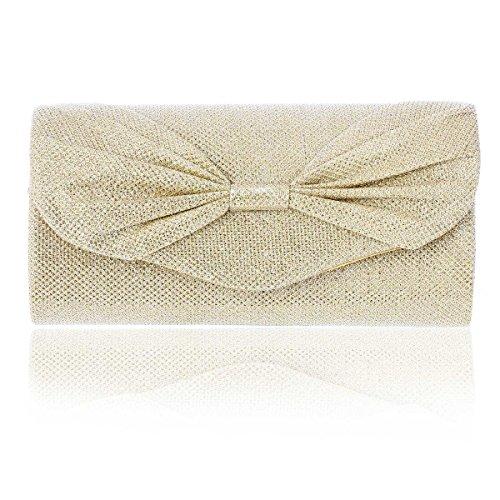 Damara® Loop Magnet Magnet Ladies Ladies Shiny Borsette In Oro Chiaro