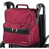 Medipaq Deluxe Rollstuhltasche – Befestigung an den Griffen für nützliche und praktische Aufbewahrung (Wein)