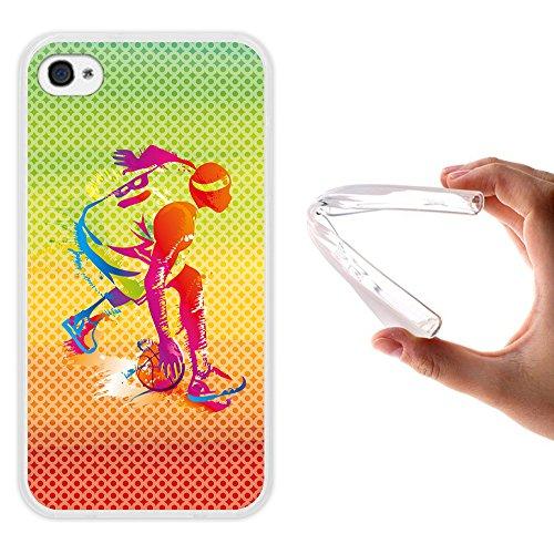 iPhone 4 iPhone 4S Hülle, WoowCase Handyhülle Silikon für [ iPhone 4 iPhone 4S ] Donuts Handytasche Handy Cover Case Schutzhülle Flexible TPU - Rosa Housse Gel iPhone 4 iPhone 4S Transparent D0491