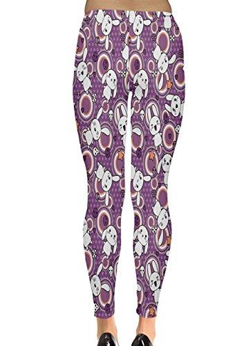 CowCow - Legging - Femme Violet/blanc Violet/blanc
