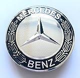 Felgendeckel Mercedes Benz 4 x 75mm Nabendeckel Radnabenkappen Radkappen Felgenkappen Nabenkappen Wheel Caps Chrom/Schwarz