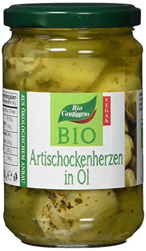 Bio Gustiamo Artischockenherzen in Öl, vegan, 2er Pack (2 x 280 g)