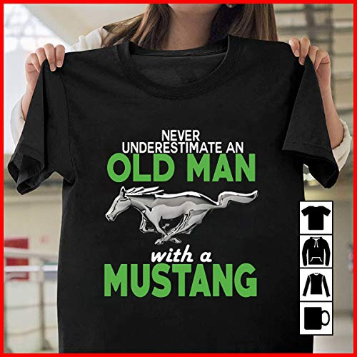 4347768e Ford Old Man With A Mustang T Shirt Long Sleeve Sweatshirt Hoodie Youth