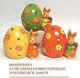 Idea Pasqua: portalumino coniglio pasquale con uovo