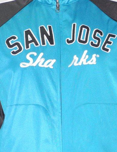 NHL San Jose Sharks Damen Zip-Up Trainingsjacke mit gesticktem Logo Cyan