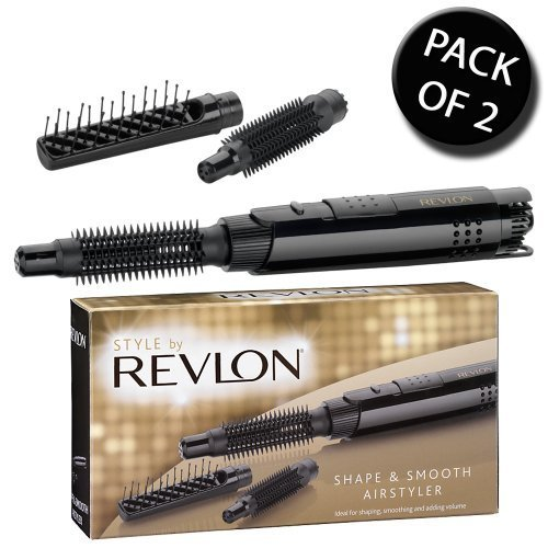 revlon 5265cu - 51aqbqsiEAL - 2x Revlon 5265CU Shape & Smooth 3 in 1 Hot Air Styler