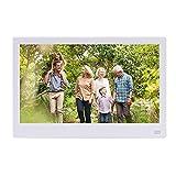 XC Digitaler Fotorahmen 11,6 Zoll, HD 1080P voller Betrachtungswinkel IPS-Bildschirm HDMI-Schnittstelle elektronisches Fotoalbum,White
