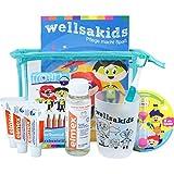 "wellsamed wellsakids Zahnpflege Reiseset Kinder Mundpflege-Set Zahnpflege-Set Travel Set ""Ready-For-Holiday"