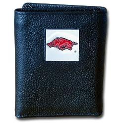 NCAA Arkansas Razorbacks Deluxe Leather Tri-fold Wallet