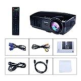 Beamer Projektor LCD 3200 Lumens 1080P 1280X800 HD Beamer LED Tragbarer Videoprojektor Mini Video WiMiUS T4 Projektor für Heimkino Multimedia HDMI /USB /VGA /AV