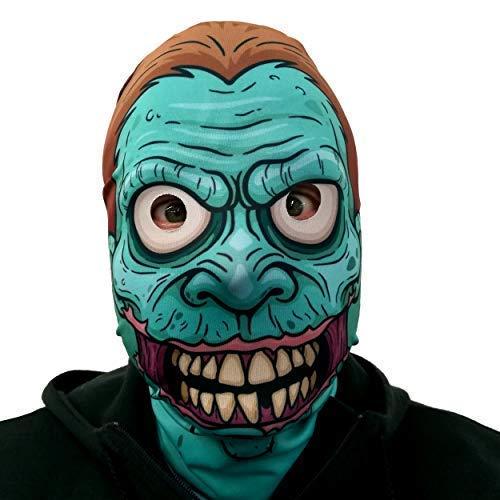 L&S PRINTS FOAM DESIGNS Cartoon Zombie Design 3D Effekt Gesicht Skin Halloween Sensenmann Hergestellt in Yorkshire