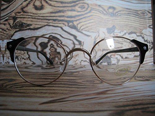 Schwarz übergroßen Metall Wayfarer Brille GEEK NERD Retro Vintage Fashion 60S 80s