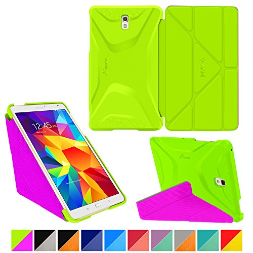 roocase-samsung-galaxy-tab-s-84-case-origami-3d-electric-green-peach-pink-slim-shell-84-inch-84-smar