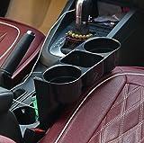 INION® KFZ Getränkehalter - Becherhalter - Ablagefach - Stauraum - Cup Holder - Aufbewahrungsbox - Ablagefach Stauraum - Dosenhalter - Becherhalter - Kaffeehalter - Flaschenhalter - Pommes halter - Burger&Cola Halter - Drink Holder - Organizer - Für alle Auto PKW LKW Ideal für Mittelkonsole Fahrersitz&Beifahrersitz und Rücksitz, Rückbank zwischen den Sitzen