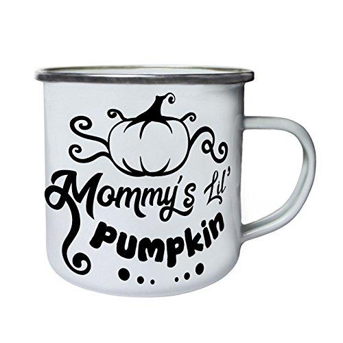 Mommys Lil Kürbis Retro, Zinn, Emaille 10oz/280ml Becher Tasse (Lil'kürbis)