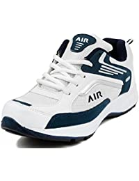 Maddy White & Blue Sport & Running Shoes For Men In Various Sizes