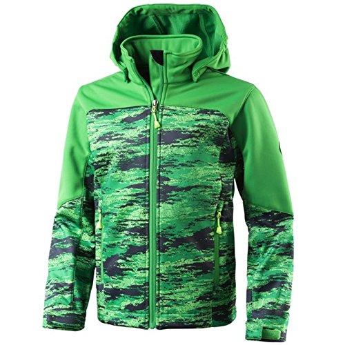 McKinley Kinder Freizeit Outdoor Wander Softshell Jacke Sacha grün multicolor, Größe:152