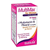 HealthAid Multi-Max für Damen Multivitamin and Mineralien, 60 Vegan Tabletten