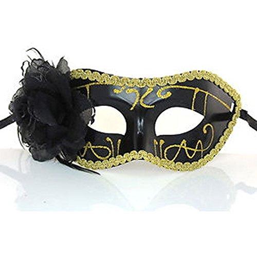 Kostüme Halloween Erwachsene Flower (PRIMI Fashion venezianischen Feder Fancy Kleid Masquerade Kostüm Karneval Party Ball Maske)