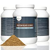 Vegan Protein Powder 800g | Advanced Combination of Pure Plant Based Proteins - Soja, Pea, Rice and Hemp | 18 Acides aminés, Diet and Sports Supplement | High Protein and Low Carb Content | Flavour: Silky Vanilla or Rich Chocolate | VEGAN by Vegavero (Chocolat)