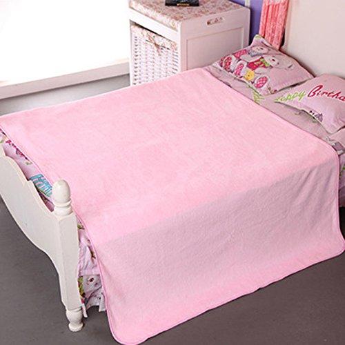 MangeooBaby Badetuch, Herbst und Winter Verdickung weichen, saugfähigen Tuch patchwork Baby Badetuch Baby liefert, Light Pink