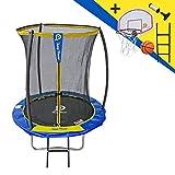 STARFLEX Trampoline Jump Power avec echelle et Panier de Basket (183)