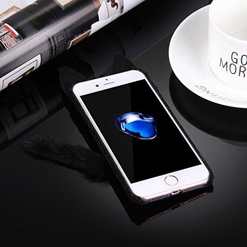 iPhone Case Cover Housse de protection pour iPhone 7 Plus Fox ( Color : Pink ) Black