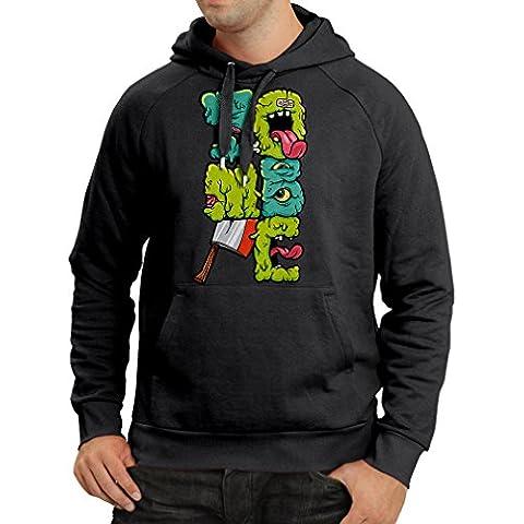 Felpa con cappuccio Zombie regalo Geek idea